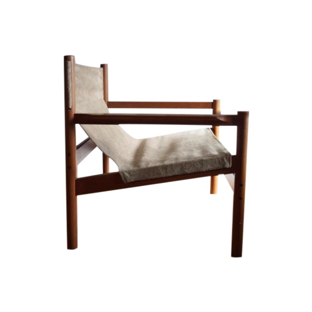 Michael Arnoult Suede Easy Chair - Image 1 of 3