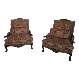 Sherrill Bergere Armchairs - A Pair