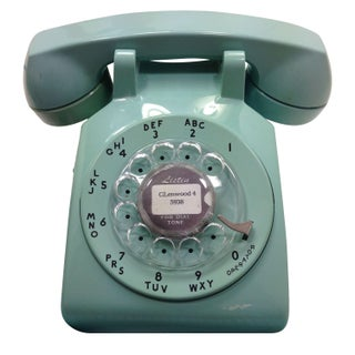 Light Blue Western Electric Model 500 Dial Phone