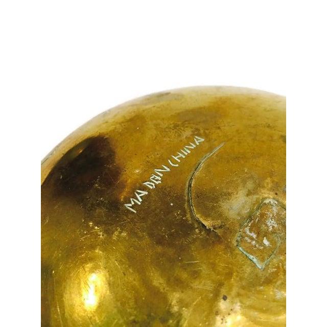 Vintage 1920 Solid Brass Etched Bat Bowl - Image 6 of 6