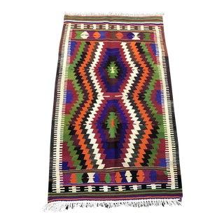 Turkish Handmade Wool Kilim Rug- 2'8'' x 4'5''