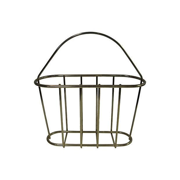 Image of Vintage Magazine Basket