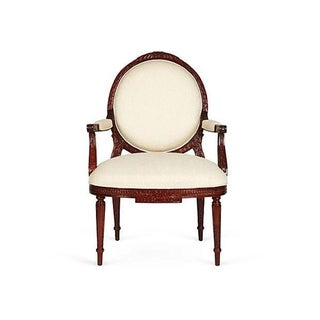 French Clarissa Mahogany Bergere Armchair