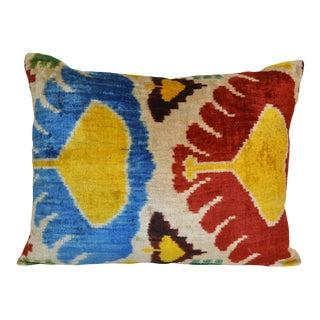 """""""Leia"""" Silk Velvet Ikat Pillow"""