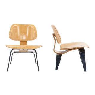 Early Pair of Eames for Evans / Herman Miller LCWs