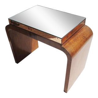Art Deco Mirror Top Side Table