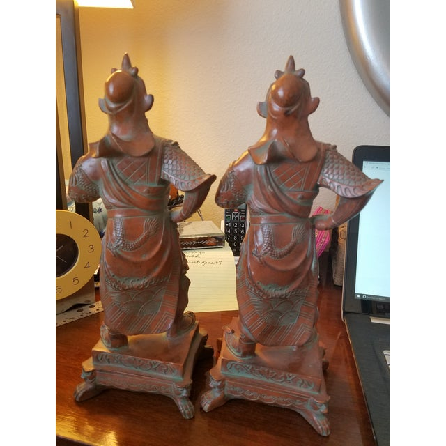 Chinese Warrior Figurines - A Pair - Image 3 of 7