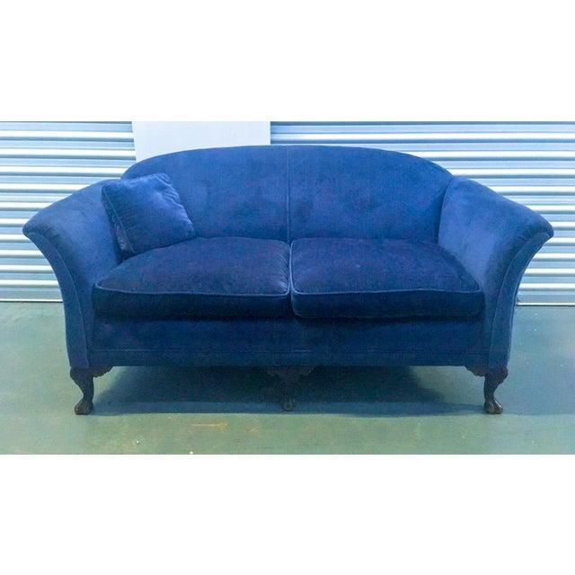 Image of Cobalt Victorian Settee