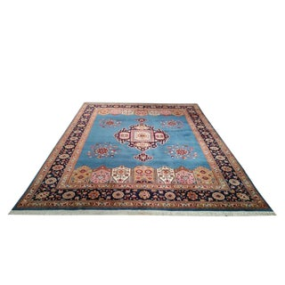 Traditional Persian Tabriz Hand Made Knotted Rug - 9′ × 12′3″