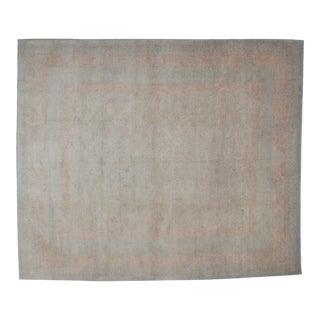 """Leon Banilivi Teal Oushak Carpet - 8'2"""" x 9'8"""""""