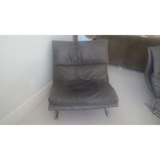 "Saporiti ""Onda (Wave) Lounge Chairs"" - Pair - Image 4 of 8"