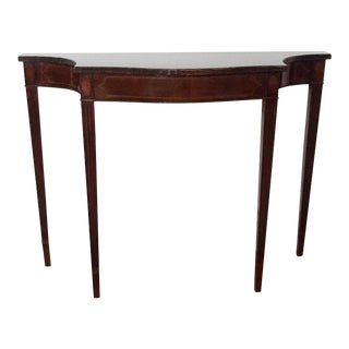 Federal Style Inlaid Console Table