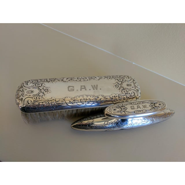 Gorham Sterling Silver Monogrammed Vanity Nail Buffer - Image 5 of 6