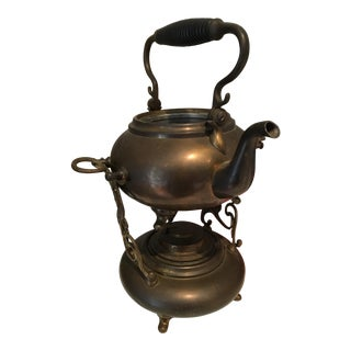1892 S. Sternau & Co Copper Tea Kettle Pot Warmer
