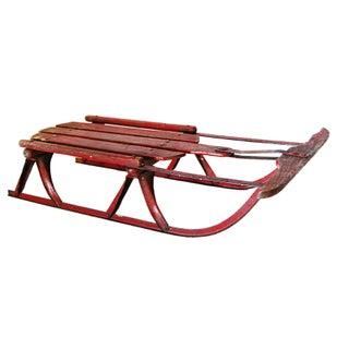 Vintage Red Sled