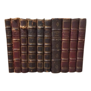 H. De Balzac Antique French Leather Books - 10