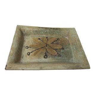Ceramic Mid-Century Flower Tray