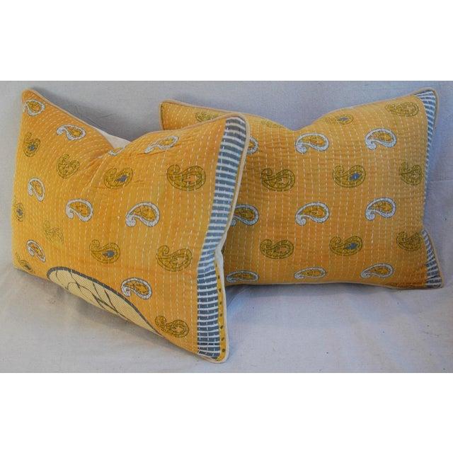 Image of Custom Boho-Chic India Kantha Textile Pillows - A Pair