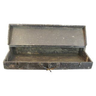 Early 1900s Tool Box - Black Painted Wood
