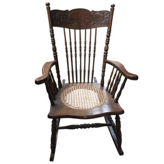 Spindle Turned Wood Rocking Chair
