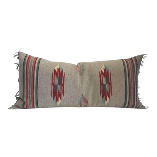 Grey Ground Mexican Serape Bolster Pillow