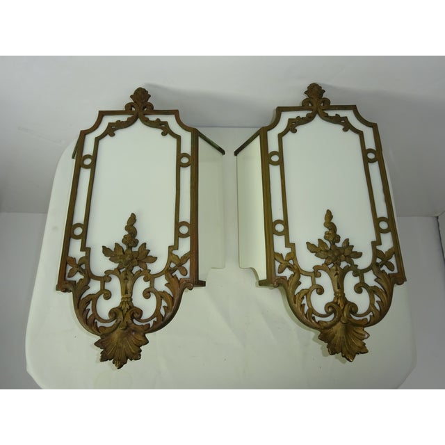 Image of Sterling Bronze Co. Antique Deco Sconces - A Pair