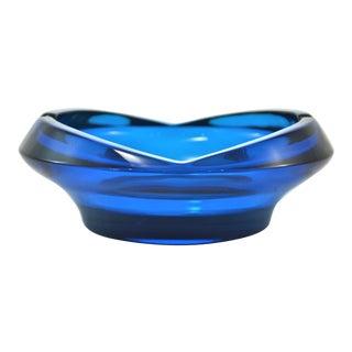 Mid-Century Azure Blue Ashtray