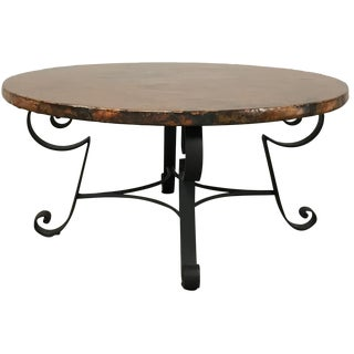 Arhaus Copper-Top Coffee Table