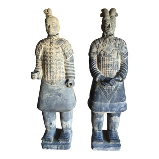 Chinese Life Size Terracotta Soldiers  - Pair