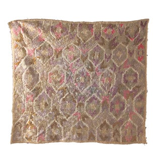 Antique Embroidered Damask Fabric