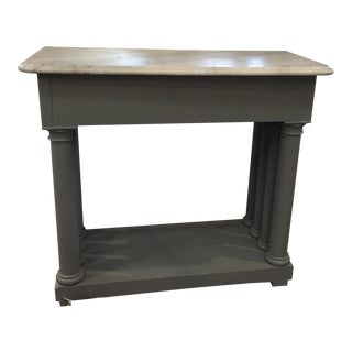Vintage Marble Top Hall Table
