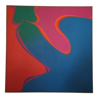 Jim Leitzell Abstract Op Art Hard Edge Painting