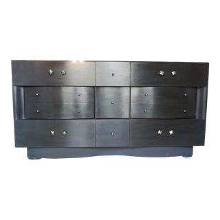 Black Beauty Nine Drawer Wood Dresser