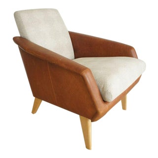West Elm Mid-Century Style Leather Armchair