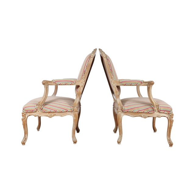 Antique 1920s French Style Armchairs - A Pair - Image 1 of 9