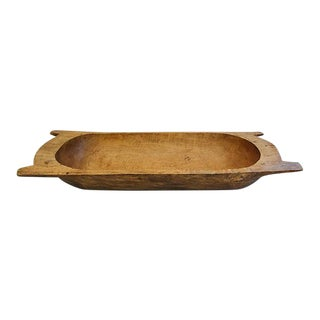 Large French Carved Wooden Harvest Dough Bowl