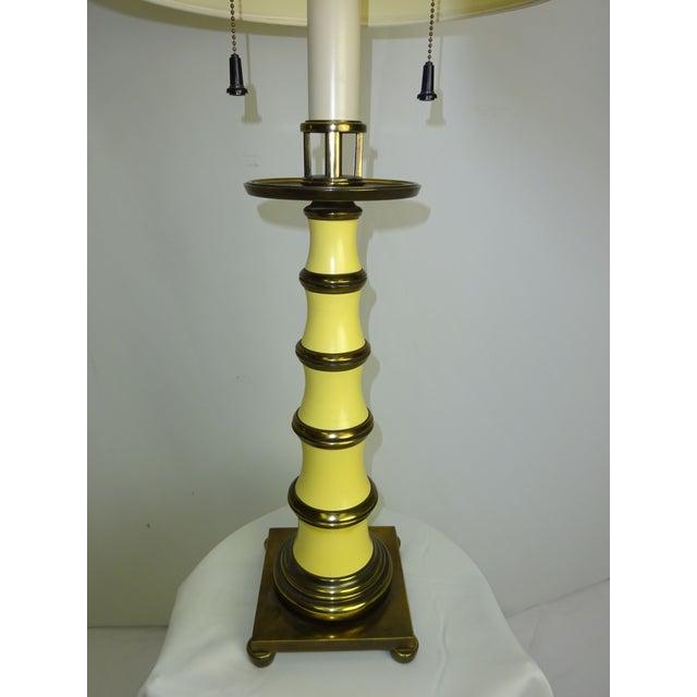 Circa 1960 Faux Bamboo Enamel Table Lamp - Image 5 of 9