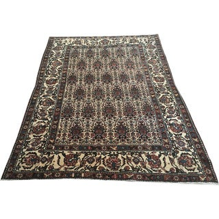 "Antique Collectible Persian Abadeh Area Rug - 4'-9"" x 5'-8"""