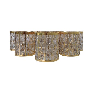 Imperial 24k Gold Rocks Glasses - Set of 8
