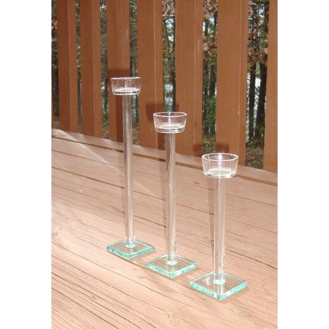 Minimalist Glam Glass Candlesticks - Set of 3 - Image 6 of 9