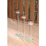 Image of Minimalist Glam Glass Candlesticks - Set of 3