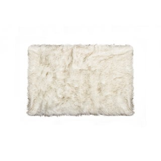 Hudson Faux Sheepskin Rug/Throw - 2' x 3'
