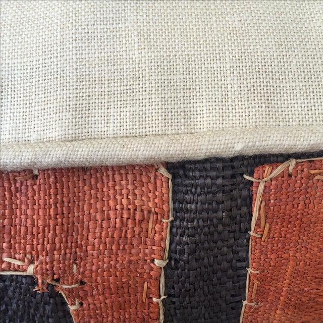African Kuba Cloth Pillows - Pair - Image 4 of 5