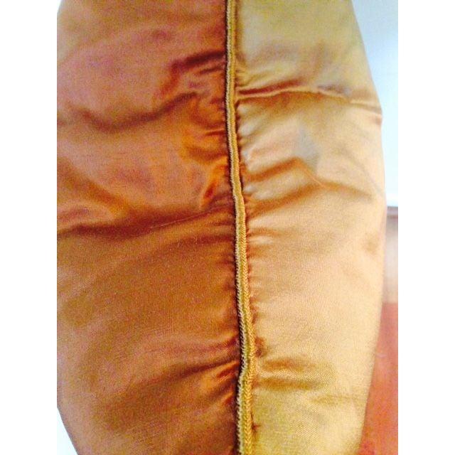 Two Toned Orange Silk Pillow - Image 5 of 5