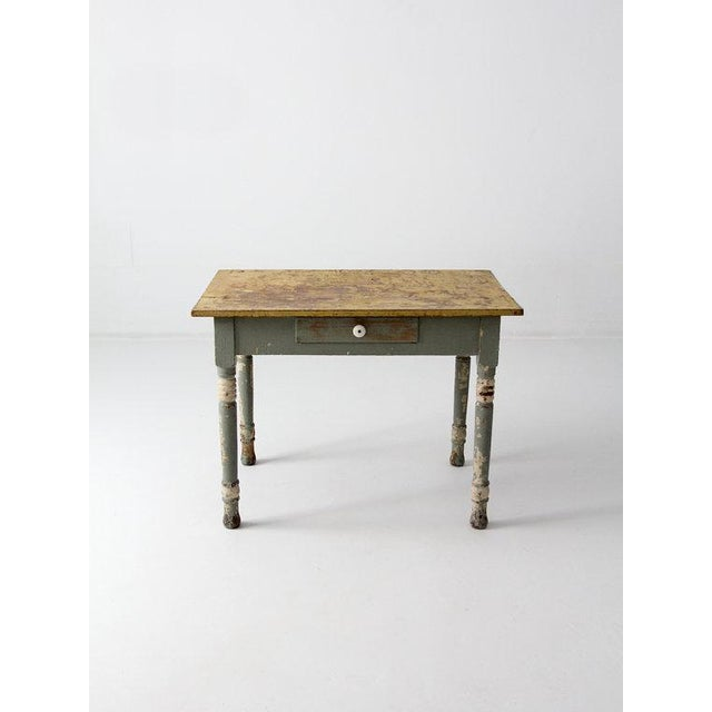 Antique American Painted Wood Table - Image 3 of 6