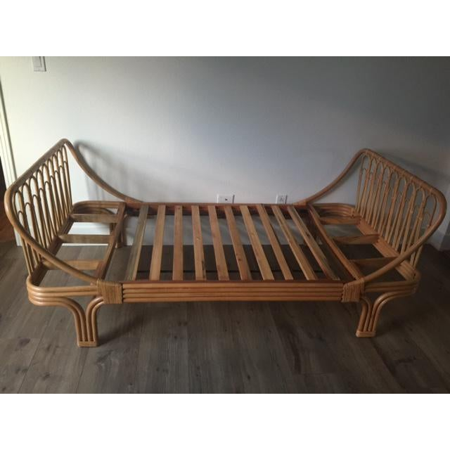 Boho Chic Rattan Twin Bed - Image 4 of 5
