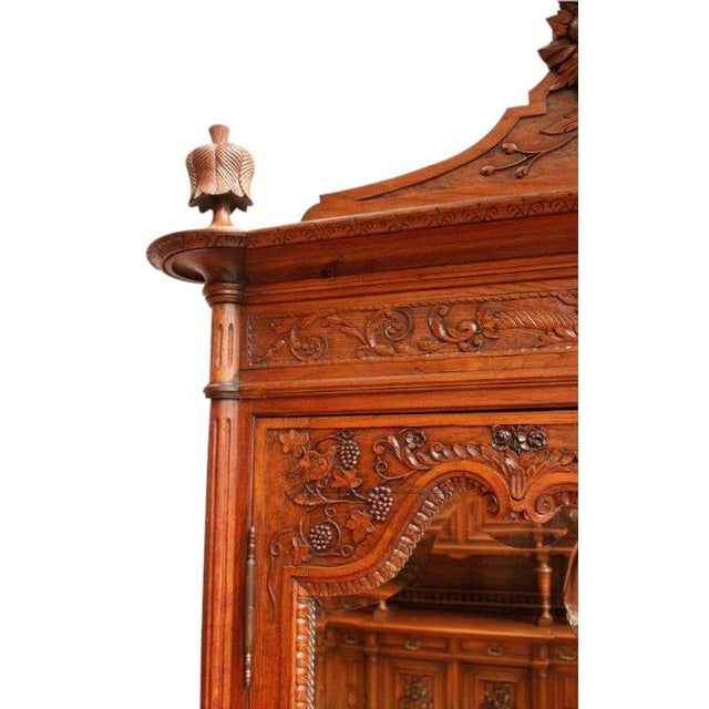 Antique Armoire Normandy French Country Birds - Image 5 of 8