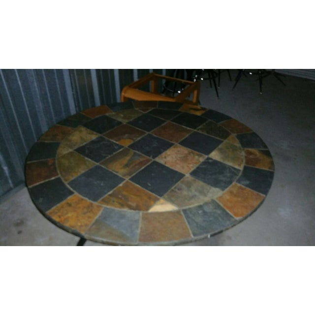 Image of Slate Stone Dining Table