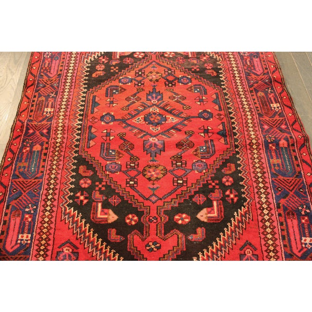 "Vintage Red Persian Rug - 4' x 6'7"" - Image 3 of 4"