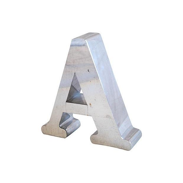 Image of 1970s Stainless Steel Marquee Letter A